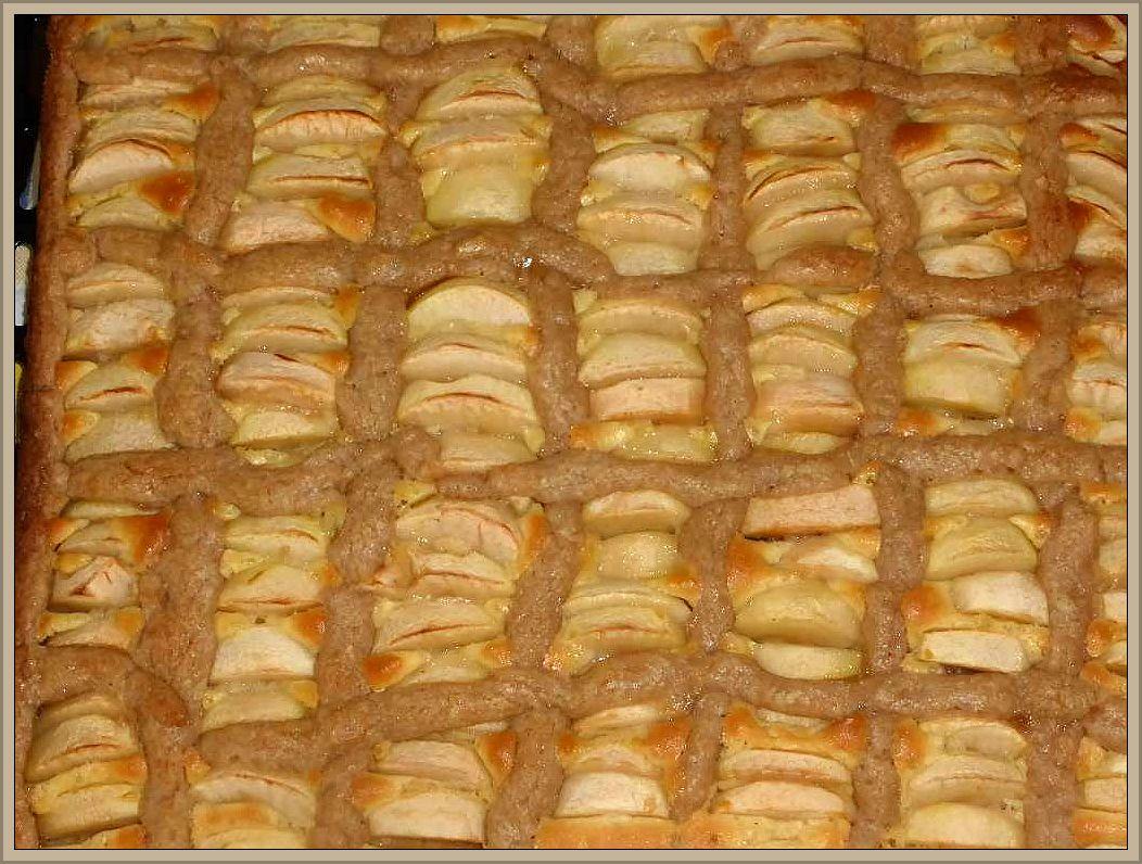 Unsere gute Seele Irena hat extra für uns einen Apfelkuchen aus eigener Ernte gebacken. Wir sagen Danke! Es hat vortrefflich gemundet, denn frische Waldluft macht bekanntlich hungrig.