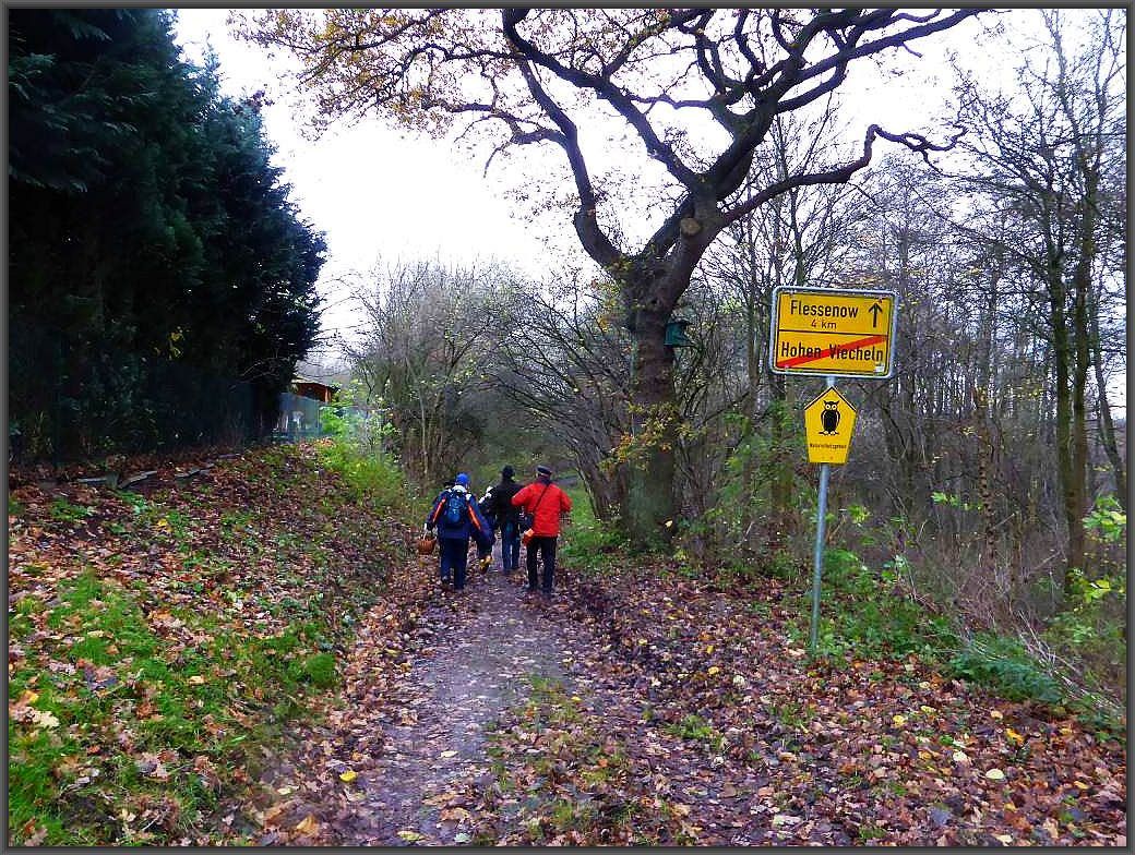 4 Km sind es von hier aus bis nach Flessenow, wir hatten am Ende bis Ventschow 6,4 Km zurück gelegte.