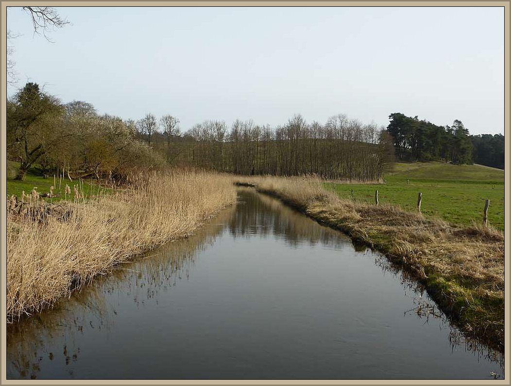 Wir folgten dem Fluß der Warnow einige Kilometer in Richtung Weitendorf.
