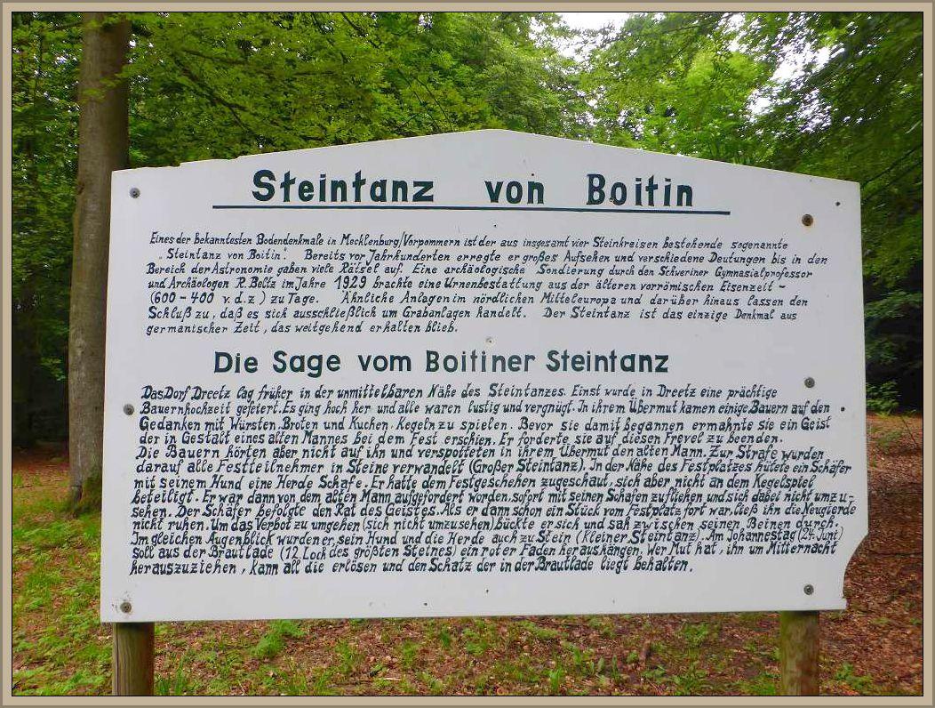 Die Sage vom Boitiner Steintanz.