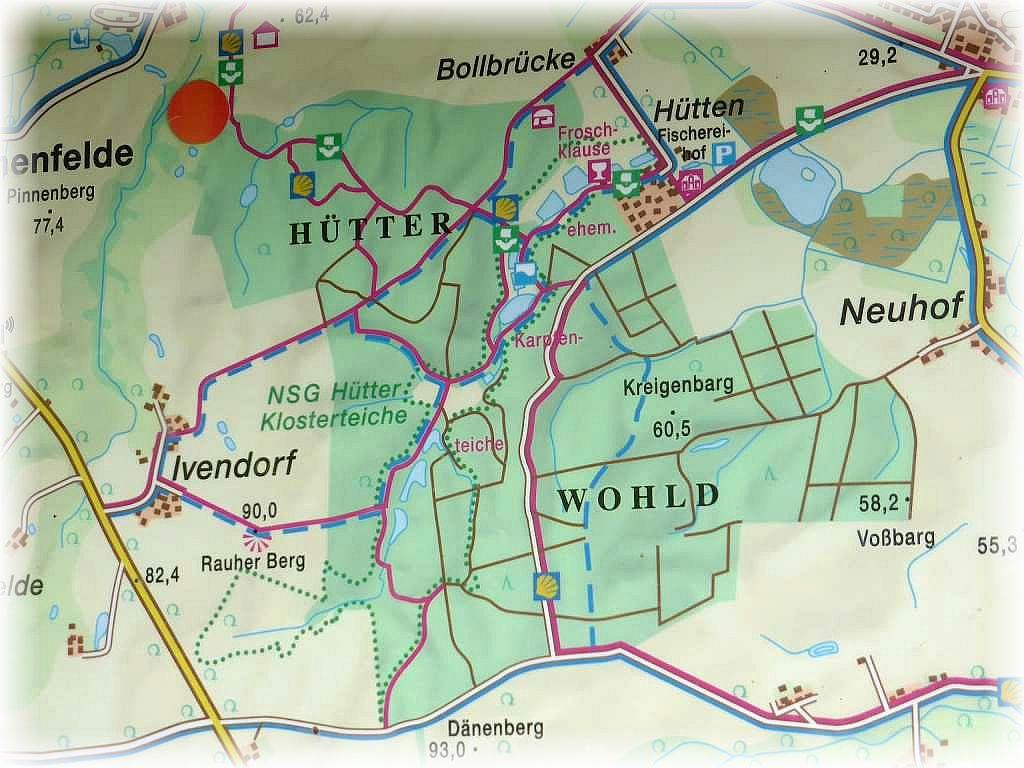 Der Hütter Wohld, südlich der Münsterstadt Bad Doberan stand heute auf dem Plan einer Vereins- und Kartierungsexkursion.