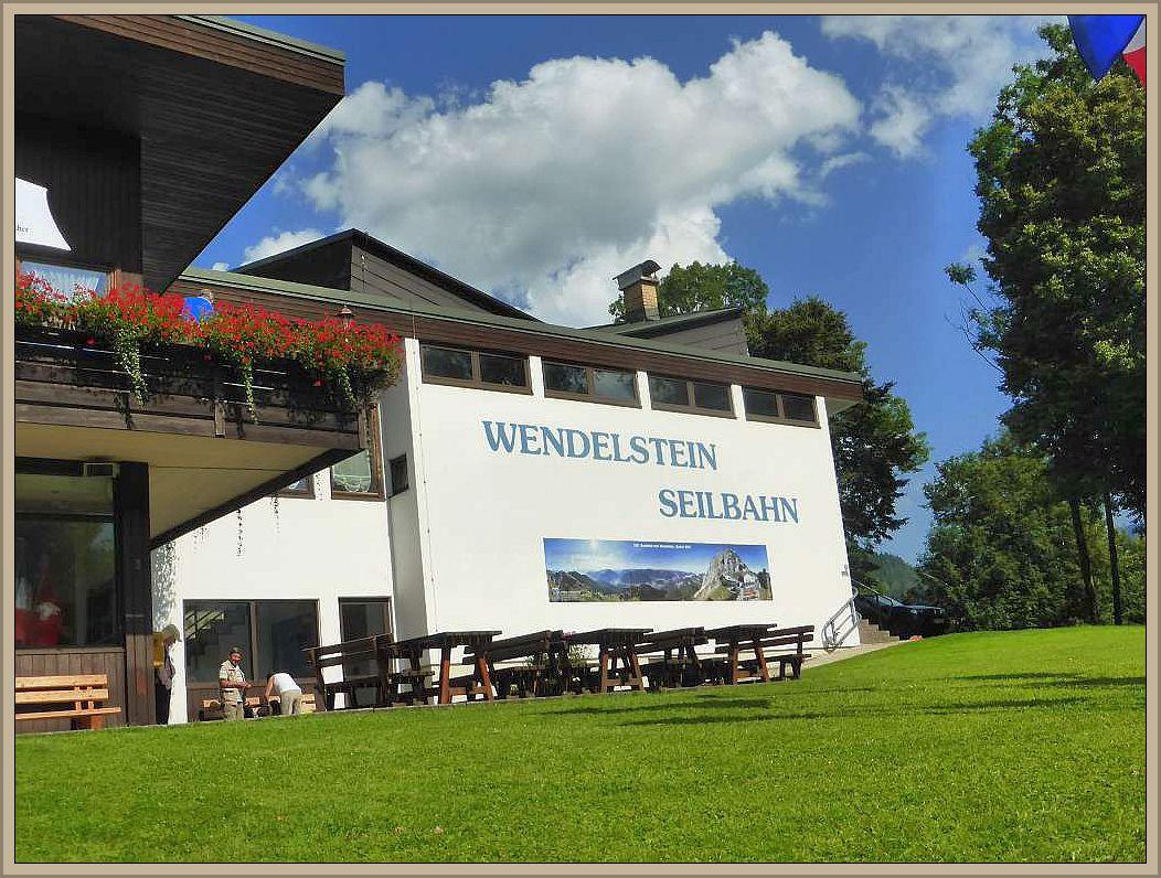 Seilbahnstation zum Wendelstein in Bayrischzell.